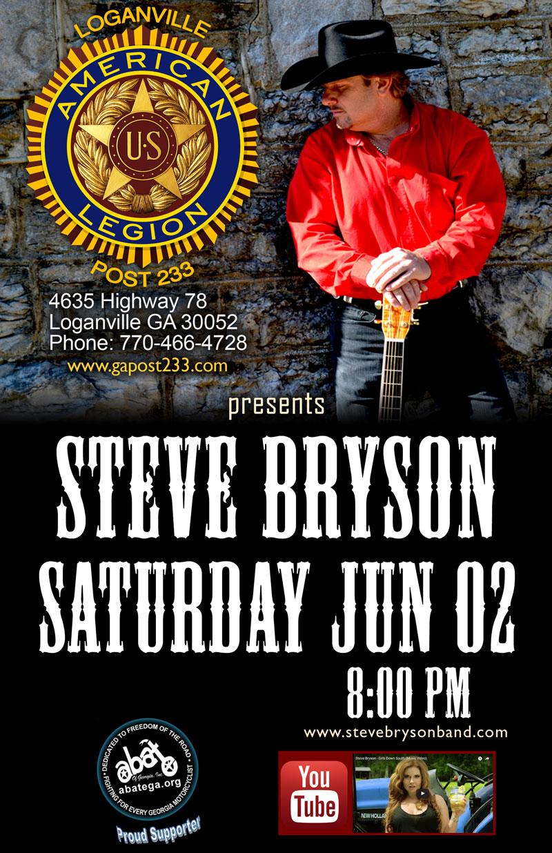 Steve Bryson Band Live at the Loganville American Legion